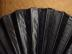 Click to view larger image of Victorian Black Satin Mourning Fan (Image2)