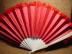 Click to view larger image of Victorian Ivory, Red Satin and Feather Fan (Image5)