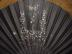 Click to view larger image of Victorian Black Sheer Sequinned Fan (Image2)