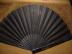 Click to view larger image of Victorian Black Sheer Sequinned Fan (Image5)