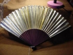 Click here to enlarge image and see more about item fanh8: Victorian Gold Fan