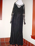 Red Carpet 1930s Velvet, Beaded Evening Gown