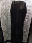 1920's Sheer Flapper Evening Dress Beaded