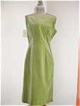 Click here to enlarge image and see more about item forh107: 1950's Green Velour GiGi Young NY Sheath