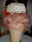 Click here to enlarge image and see more about item htb804: Sally Victor  Spring Hat