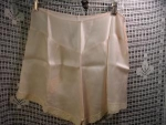 Click here to enlarge image and see more about item lngh105: Pale Peach 1930's Lace Trimmed Tap Pants
