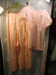 Click here to enlarge image and see more about item lngh110: 1930's Pale Pink Satin Pajama set