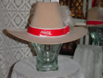 Click here to enlarge image and see more about item menb508: Western hat with Coca Cola logo
