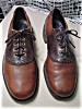 Click to view larger image of Vintage Mens two tone brown saddle shoes (Image2)