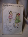 1940's Du Barry Child's Pinafore and Blouse
