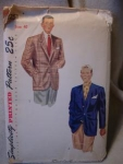 Click here to enlarge image and see more about item patkk16: 1950's Simplicity Men's Jacket Pattern