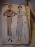 Click here to enlarge image and see more about item patkk2: 1935 McCall's #8123 Dress Pattern