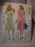 Click here to enlarge image and see more about item patkk6: 1940 McCall's #3678 Misses' Dress\