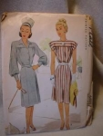 1946 McCall's #6485 Ladies' & Misses' Dress