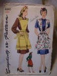 Click here to enlarge image and see more about item patkk9: 1940's Simplicity #4440 Apron Pattern