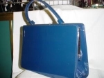 Click to view larger image of Blue Vinyl Purse (Image1)