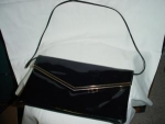 Click here to enlarge image and see more about item pb2031: Black Vinyl envelope purse