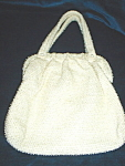Click here to enlarge image and see more about item pb2049: Vintage Corde Bead Purse/matching coin purse