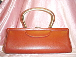 Click to view larger image of Vintage Long Brown purse (Image1)