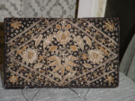 Velveteen Embroidered Clutch