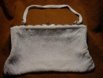 Walborg White Beaded Handbag