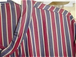 Click here to enlarge image and see more about item rkk01: Mans Striped Silk Robe / Nightshirt
