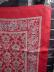 Click to view larger image of Liberty of London Deep Red Patterned Scarf (Image3)