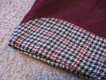 Click to view larger image of 1950s Wool Smoking Jacket w/houndstooth (Image2)