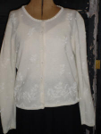 Click here to enlarge image and see more about item swh205: Embroidered and beaded sweater