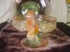 Click to view larger image of Vintage Venetian Art Glass Sherbert and Plate (Image2)