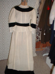 Click here to enlarge image and see more about item vh704: 2-pc. Cream Colored Dress