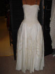 Click here to enlarge image and see more about item wedh906: 50's Strapless Wedding Gown