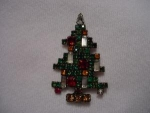 Click to view larger image of Weiss 5-Candle Christmas Tree Pin (Image1)