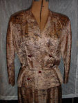 Click to view larger image of 50's Abstract  cocktail suit (Image1)