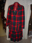 Click here to enlarge image and see more about item wsukk304: 60's Plaid  Pendleton suit
