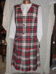 Click here to enlarge image and see more about item wsukk305: 60's Vest & Skirt