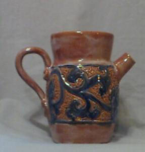 HENRIKSEN IMPORTS GLAZED CERAMIC PITCHER (Image1)
