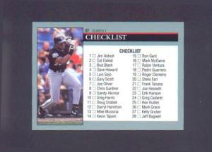 1991 SCORE CHECKLIST (Image1)