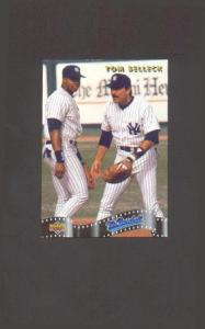 1992 UPPER DECK TOM SELLECK AND FRANK THOMAS (MR. BASEBALL) (Image1)