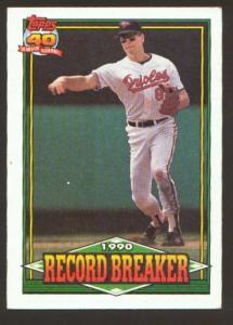 1991 TOPPS 40 YEARS RECORD BREAKER (Image1)