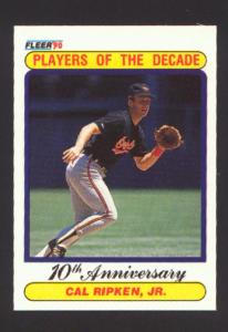1990 Fleer Players Of The Decade 10th Anniversary