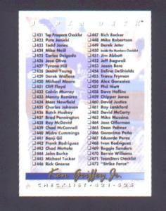 1993 UPPER DECK CHECKLIST (Image1)