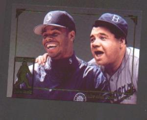1995 MEGACARDS KEN GRIFFEY & BABE RUTH (Image1)