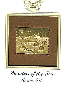 22kt Gold Foil Marine Life Stamp (Image1)