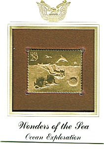 22kt Gold Foil Ocean Exploration Stamp (Image1)