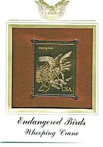 22kt Gold Foil Whooping Crane Stamp (Image1)