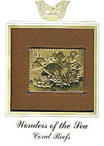 22kt Gold Foil Coral Reefs Stamp (Image1)