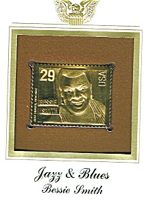 22kt Gold Foil Bessie Smith Stamp (Image1)