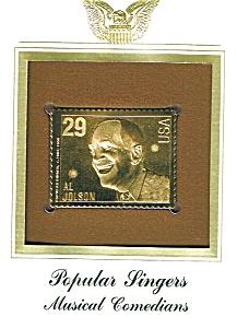 22kt Gold Foil Al Jolson Stamp (Image1)