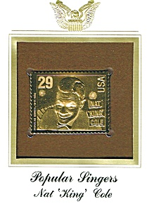 "22kt Gold Foil Nat ""King"" Cole Stamp (Image1)"